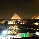 エジプト(5) 1日目夜・光と音のショーは丸見え!!