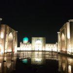 ウズベキスタン1802(11)~3日目(3)レギスタン広場の夜景